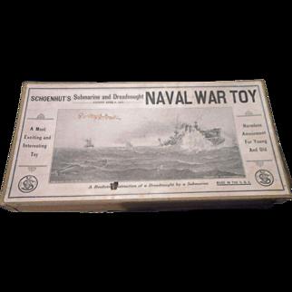 Schoenhut  Submarine and Dreadnought NAVAL WAR TOY