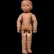 Lovely Antique Carved Hair Schoenhut 14/105 Doll