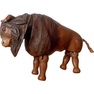 Schoenhut Humpty Dumpty Circus or Teddy Roosevelt African Safari Buffalo with Glass Eyes