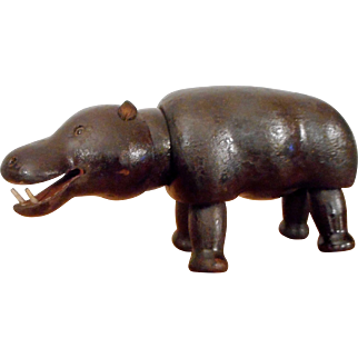 Schoenhut Humpty Dumpty Circus or Teddy Roosevelt African Safari HIPPO with Glass Eyes