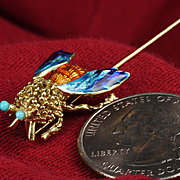 "14K Enameled ""Bee"" Pin"