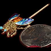 "14K Enameled ""Bee"" Pin"