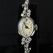 14K White Gold Ladies Hamilton Diamond Wrist Watch with 1.25 Ct. TW
