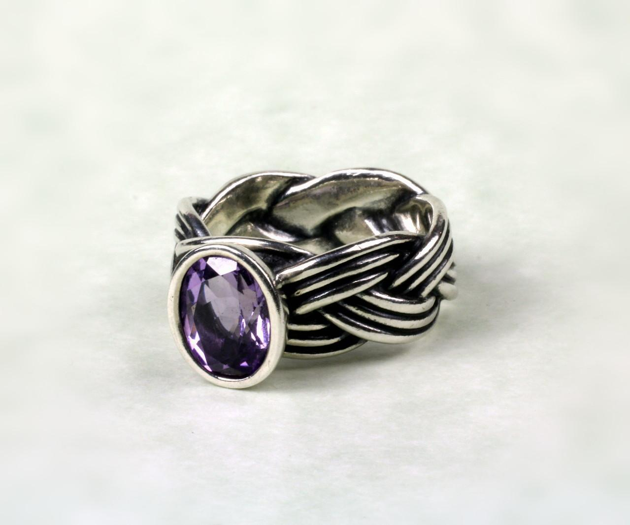 Sterling Pandora Amethyst Ring