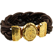 Antique 18K Gold French Mourning / Hair Bracelet