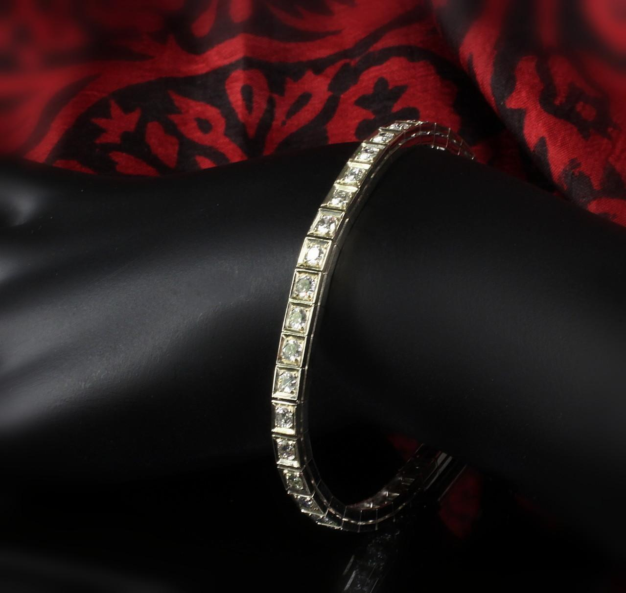14K White Gold 4.0 Carat Add -a- Diamond Bracelet