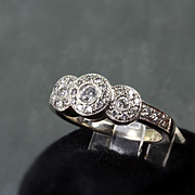 14K White Gold 0.30 Ct Diamond Ring