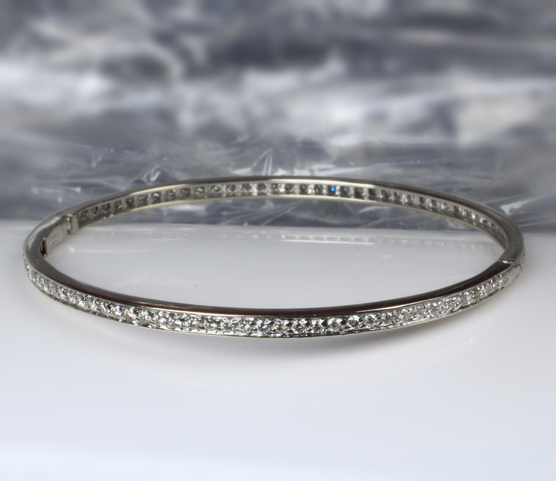 14K White Gold 1.20 Carat Diamond Bracelet