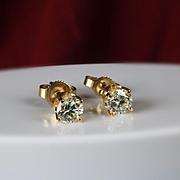 14K Diamond Earrings , 0.80 Ct Total Weight