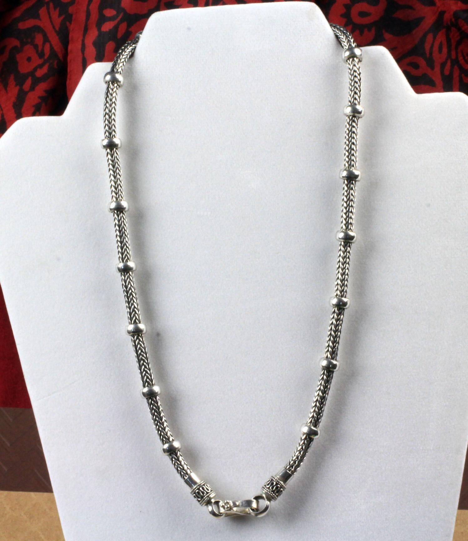 20 Inch Weave Sterling  Necklace