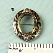 Antique Gold Filled Mourning Brooch / Pin