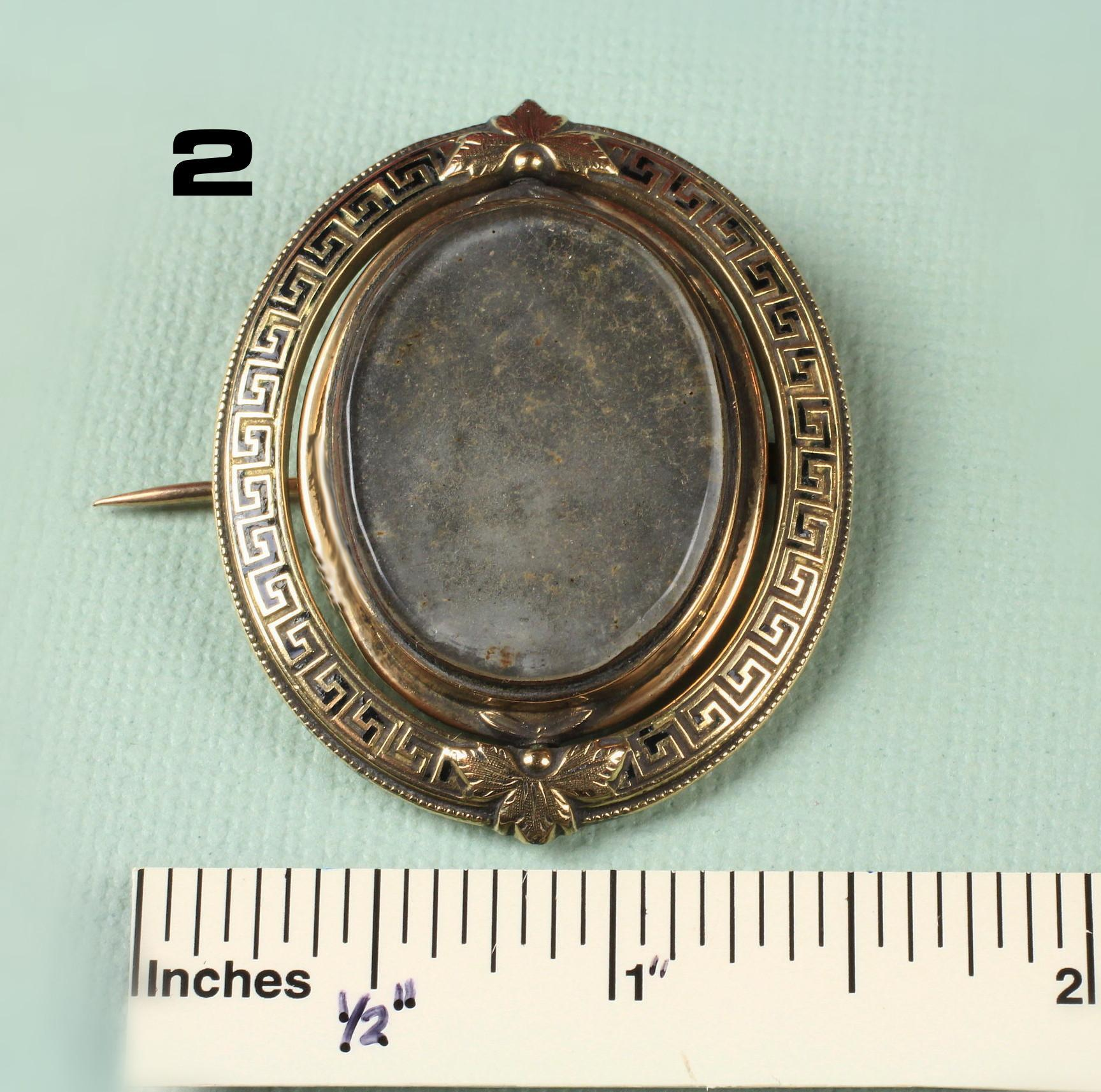 Antique Gold Filled Mourning Brooch