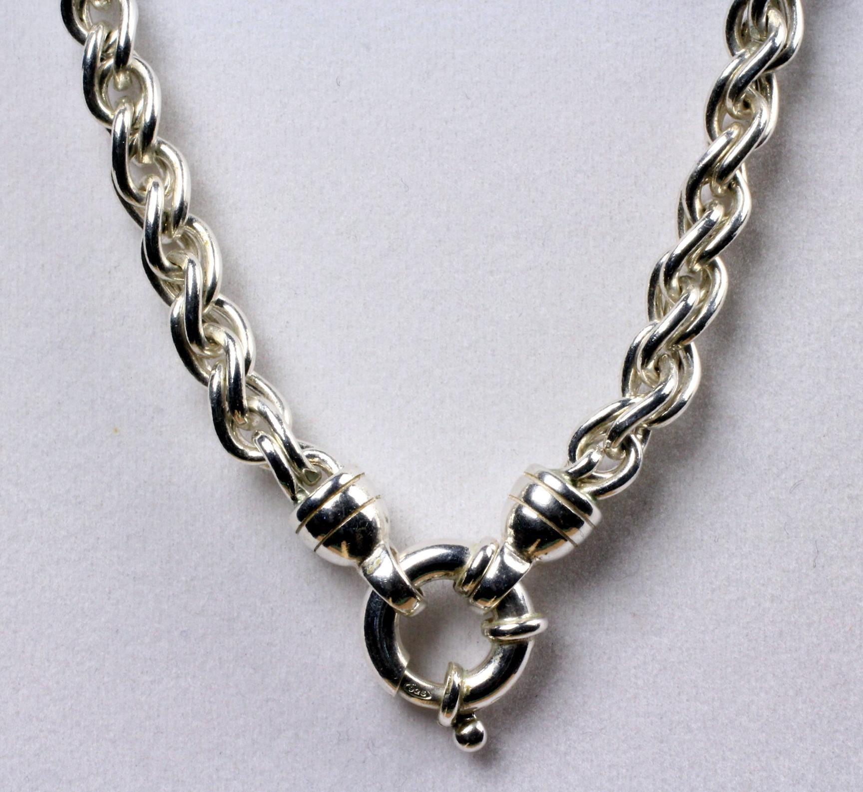 18 Long Heavy Sterling Necklace