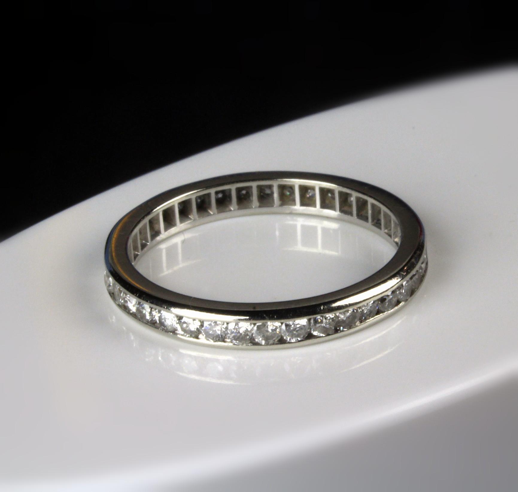 14K Eternity Band 1.0 Carat Diamond