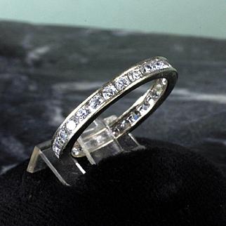 14K White Gold Diamond Eternity Band - 0.75 Carat of Diamonds
