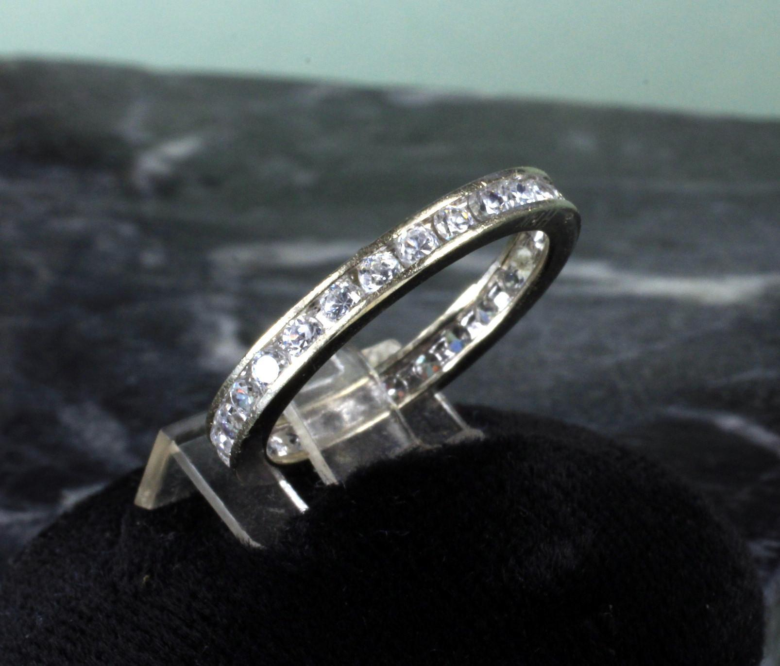 14K White Gold Diamond Eternity Band - 0.75 Carat of Diamonds