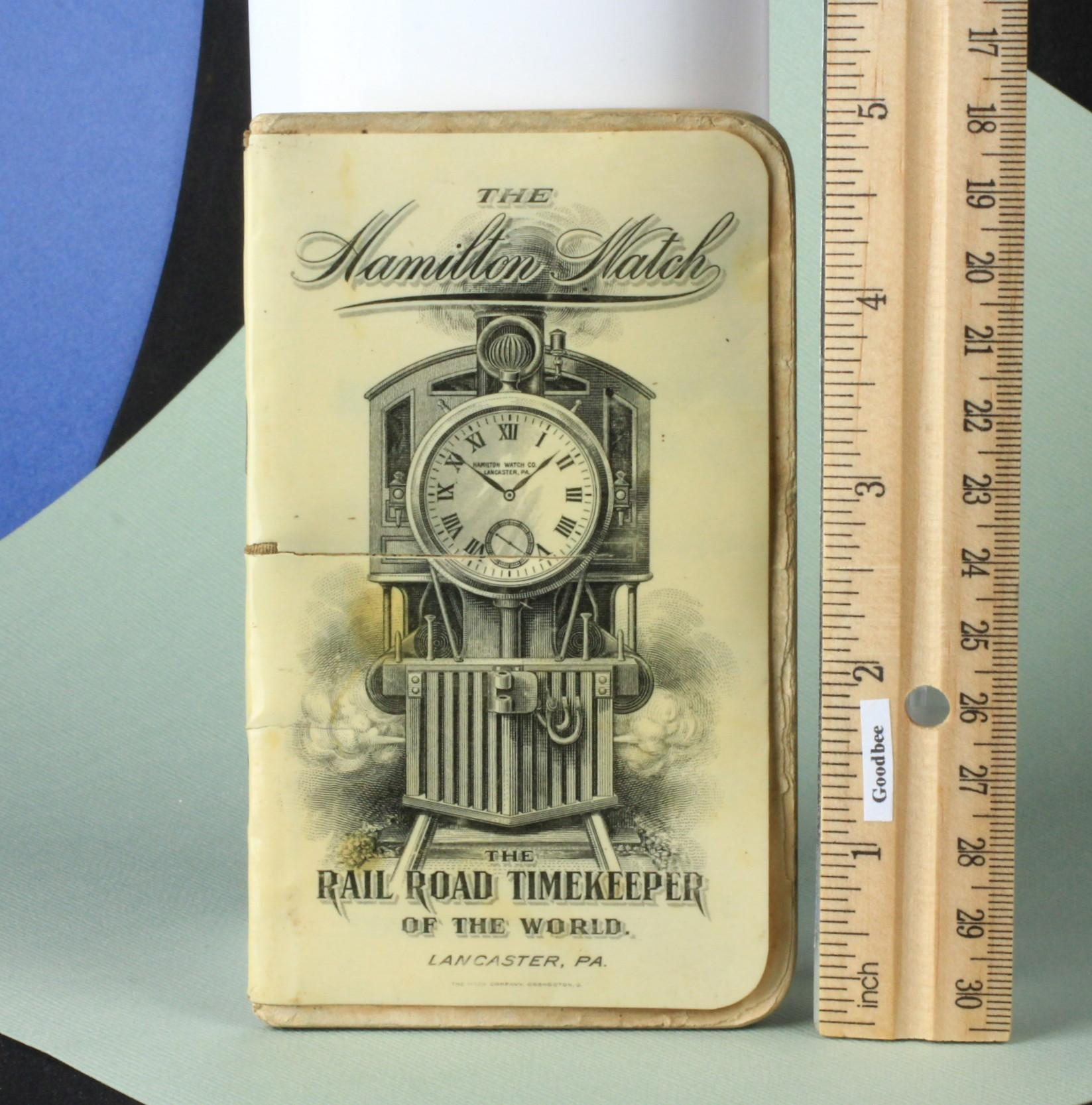 Celluloid 1908 Hamilton Rail Road Watch Co. Advertising Book
