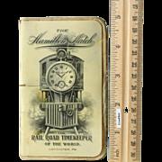 Celluloid 1908 Hamilton Rail Road Watch Co. Advertising Book