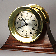 Brass Boston / Chelsea Ships Clock Ca: 1970's