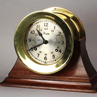 Brass Boston / Chelsea Ships Clock Ca: 1970's