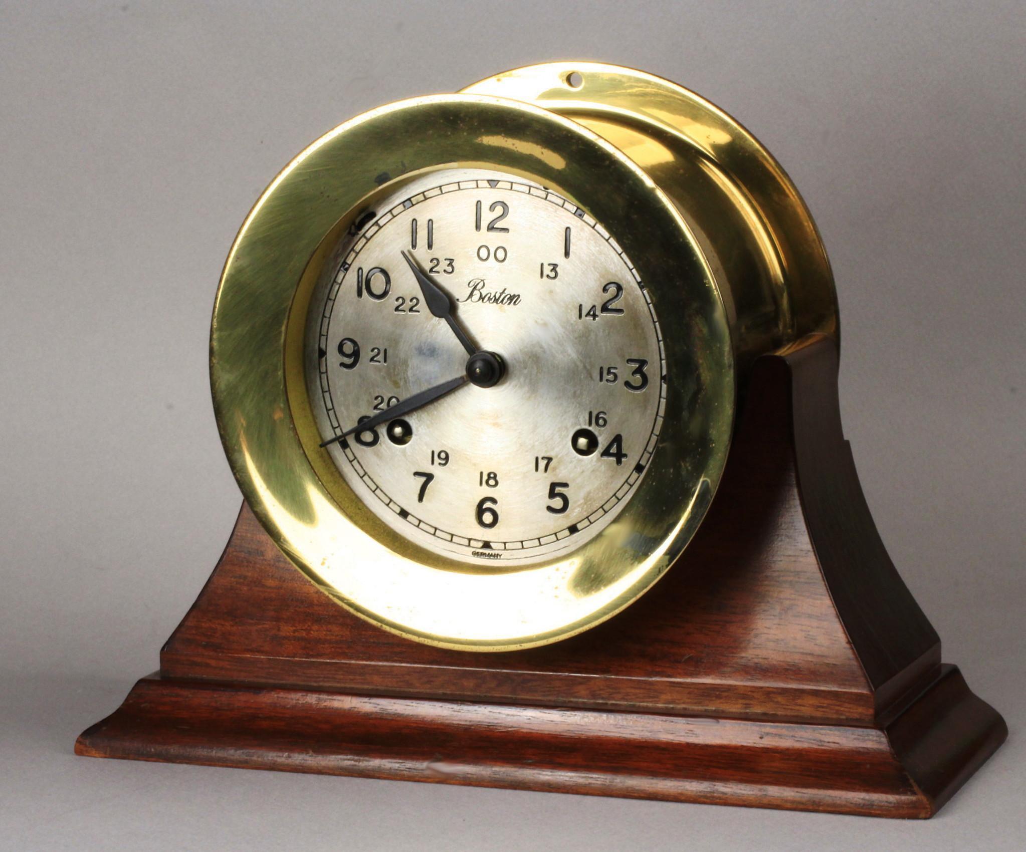 Brass Boston Chelsea Ships Clock Ca 1970 S From Goodbee