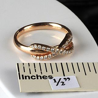 18K Rose Gold Tiffany & Co. Diamond Ring