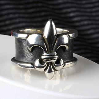 Sterling Silver Mignon Faget Fleur de Lis Ring