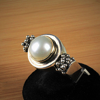 Sterling & 14K Pearl Fashion Ring