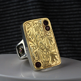 Sterling & 18K Gold Ruby Fashion Ring