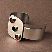 Pierre Cardin Sterling Silver and 14K Gold Bracelet
