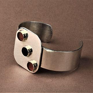 Pierre Cardin Sterling Silver and 14K Gold Bracelet