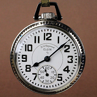 "16 Size Elgin ""B W Raymond"" 21 Jewel Railroad Pocket Watch"
