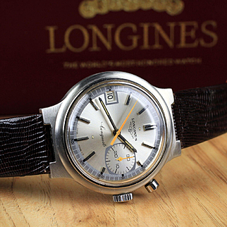 """Stainless Longines Conquest Chronograph  .....  """"Official timer at the Olympic Games"""""""