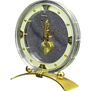 Vintage Art Deco, Mid-Century ORIENT STAR / LeCoultre Skeleton Clock 18 Jewels