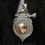 English Sterling Silver and 10K Watch Fob or Pendant / Charm