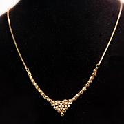14K Diamond Necklace with 0.60 Carat of Diamonds
