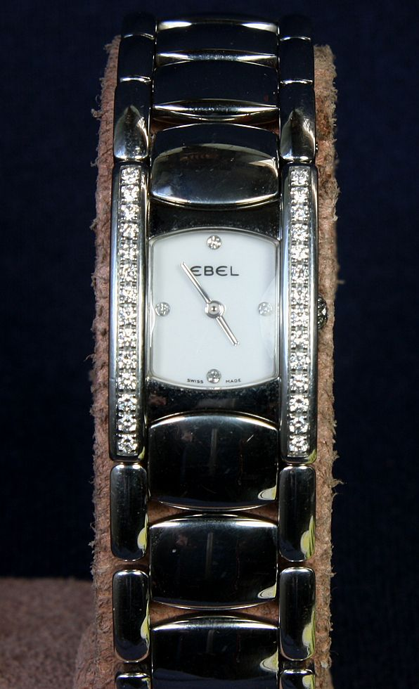 Ladies  Stainless Steel Ebel Beluga Manchette Watch  with Diamonds