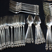 133  Pieces - International Sterling Silver - Royal Danish Pattern Flatware