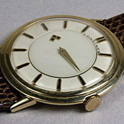 Gents 14K Yellow Gold Longines Mystery Dial Wrist Watch