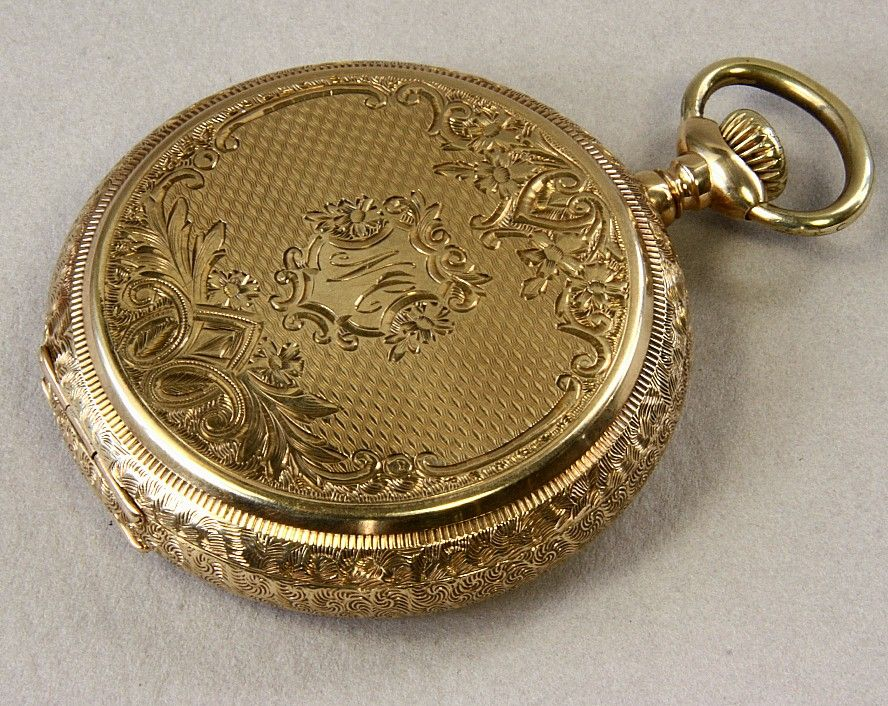 14K Gold American Waltham 16 Size Hunting Case Pocket Watch Ca: 1904