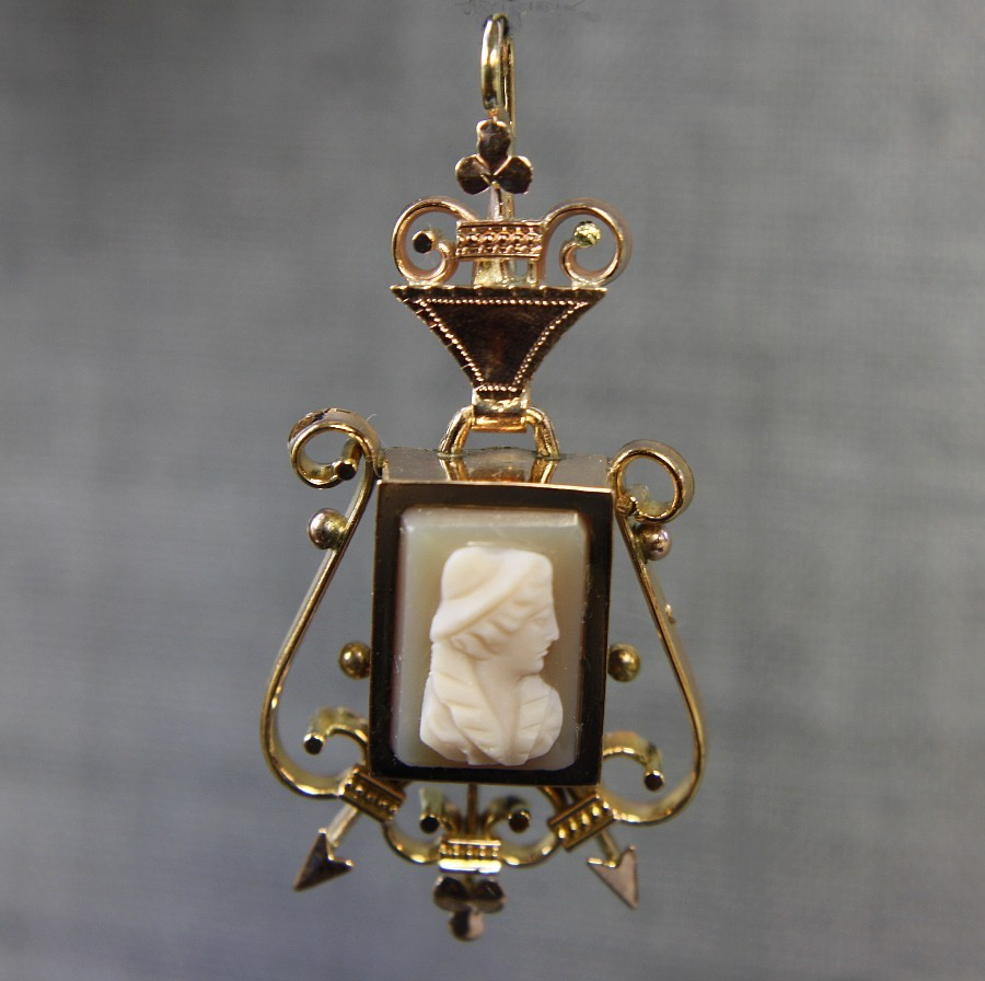 14K Rose Gold Cameo Pendant