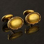 14K Yellow Gold Antique Cufflinks
