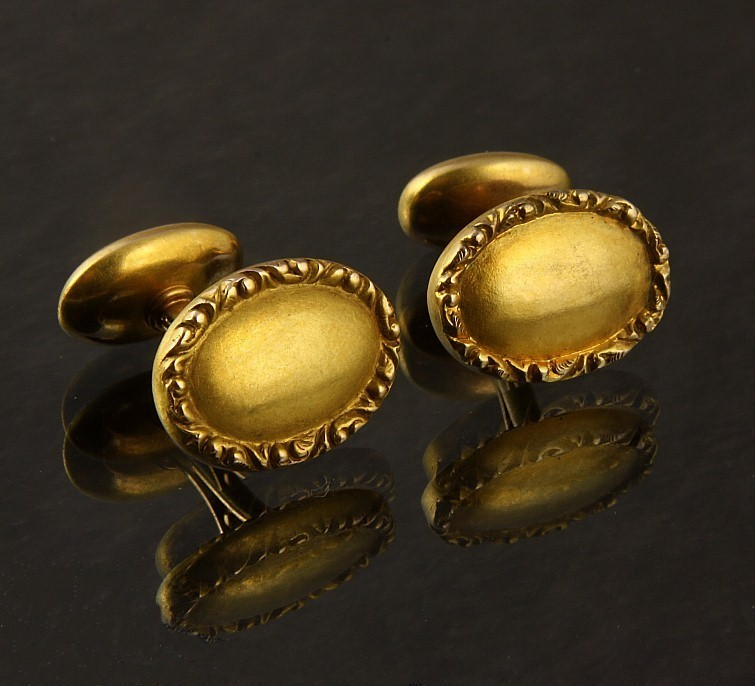 14K Yellow Gold Antique Cufflinks