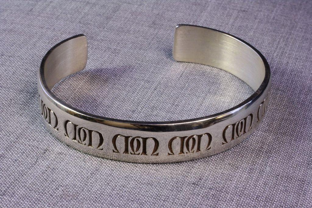 """Mignon Faget Sterling """"Millenium"""" Cuff Bracelet"""