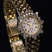 14K Gold Ladies Geneve 1.50 Carat  Diamond Wrist Watch