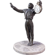 11 Inches Tall -Matador Statue Pocket Watch Holder