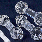 Three American Cut Glass Knife Rests