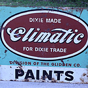 Old Dixie Made Climatic / Glidden Paint Advertising Sign