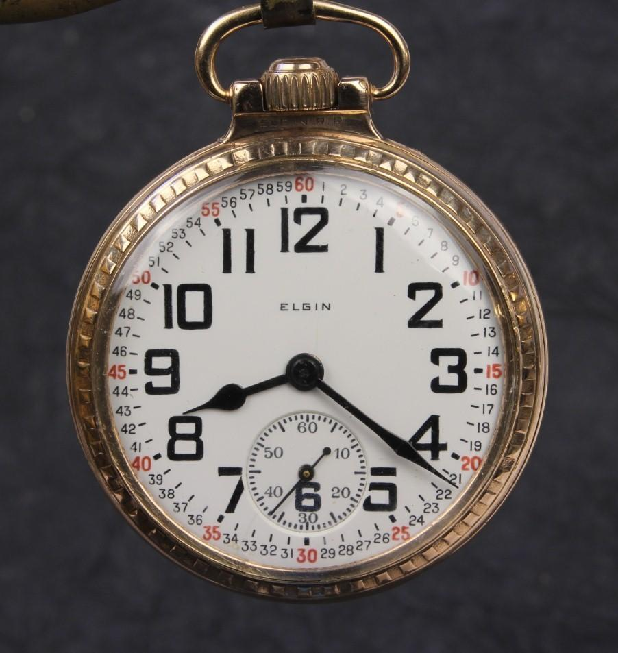 "CA: 1924  ...  Elgin ""B W Raymond"" 21 Jewel Railroad Grade Pocket Watch"