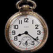 """CA: 1924  ...  Elgin """"B W Raymond"""" 21 Jewel Railroad Grade Pocket Watch"""